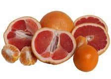 Grapefruits and Mandarines. Royalty Free Stock Image