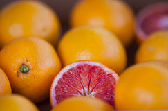 Grapefruits on market Stock Photo