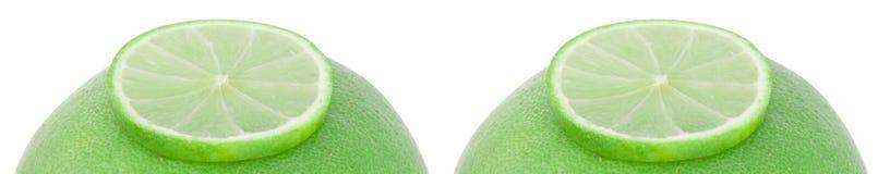 Grapefruits met kalk Royalty-vrije Stock Afbeelding