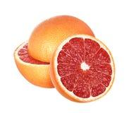 Grapefruits odizolowywający na białym tle z ścinek ścieżką, zdjęcie stock