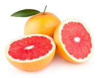 Grapefruits. Ripe grapefruits on white background Stock Photo