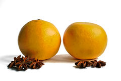 Grapefruits and Star Anise Stock Photo