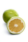 Grapefruits on white background - close-up Royalty Free Stock Photos
