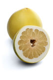 Grapefruits on white background - close-up Stock Images