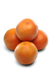 Grapefruits on white background - close-up Stock Photo