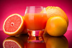 Grapefruitsaft Stockfoto