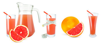 Grapefruitsaft und Meter Lizenzfreie Stockfotografie