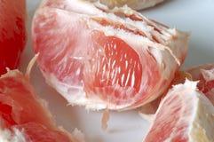 Grapefruitstukken Stock Foto's