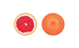 Grapefrukt i snitt Arkivbild