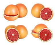 grapefrukt isolerad white arkivbilder
