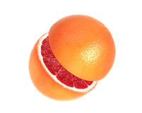 grapefrukt isolerad white royaltyfri fotografi
