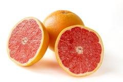 Grapefrukt med segment royaltyfria foton