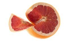 Grapefrukt med skivan Arkivfoton