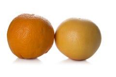 grapefrukt och apelsin Arkivbild