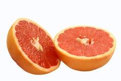 grapefrukten halves pink Royaltyfri Bild