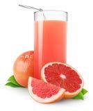grapefruktfruktsaft Fotografering för Bildbyråer