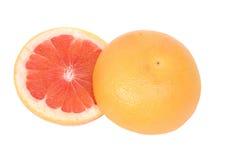 grapefrukthälfter Arkivfoto