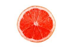 Grapefuit em um fundo branco imagem de stock