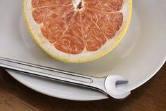 Grapefuit puede fijarlo. Fotografía de archivo libre de regalías