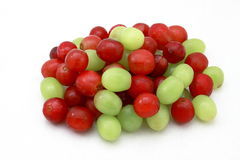 Grapes. Pile of Red and Green Grapes with vibrant colors and great lighting Stock Photos