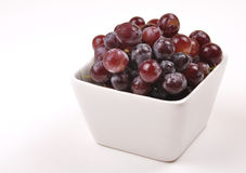 Grapes. Bunch of fresh grapes in bowl Royalty Free Stock Photos