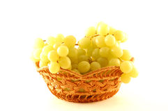 Grapes. Grapes cluster over a white background, close up royalty free stock photo