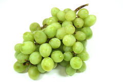 Grapes. A bunch of Grapes on white background stock photo