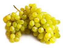 Grapes. Juicy grapes isolated on white background with drops of water Royalty Free Stock Photo