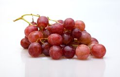 Grapes. Bunch of grapes on a white background Stock Photography