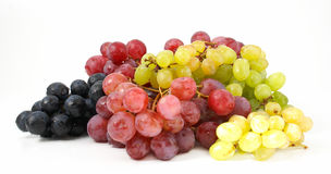 Grapes. Three various grades of grapes Royalty Free Stock Image