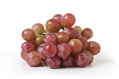 Grapes.  A bunch of delicious grapes  on a white background Stock Images