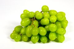 Grapes. Bunch of grapes on white background royalty free stock photo
