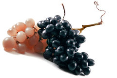 Grapes. Ripe grapes on a white background royalty free stock image