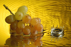 Grapes #5. Grapes and water with ripples Royalty Free Stock Image