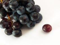 Grapes. Closeup grapes over white background Stock Photos