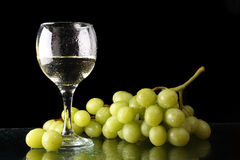 Grapes And Glass Royalty Free Stock Photos
