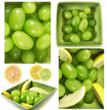 Grapes And Lemons Composition Royalty Free Stock Image