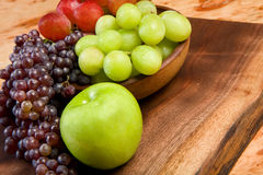 Grapes and Apple Stock Photo