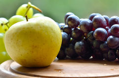 Grapes and apple Royalty Free Stock Photo