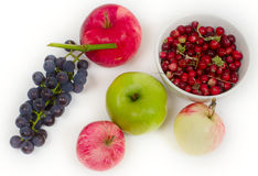 Grapes apples and cranberry Royalty Free Stock Image