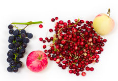 Grapes, apples and cranberry Stock Image