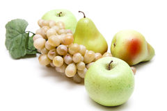 Grapes and apples with pears Royalty Free Stock Photo