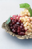 Grapes artificial fruit Royalty Free Stock Photography