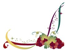 Grapes background. Abstract background with the grapes stock illustration