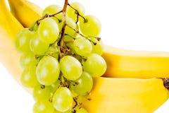 Grapes and Bananas Royalty Free Stock Photos