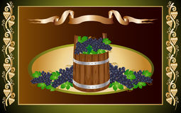 Grapes barrel Stock Photo