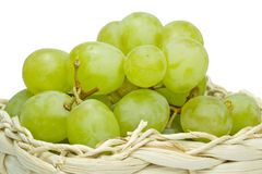 Grapes in a basket Stock Image
