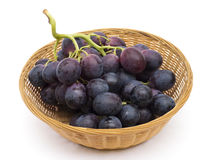 Grapes in Basket Royalty Free Stock Photography
