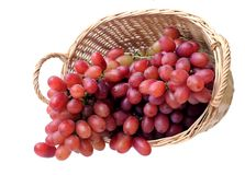 Grapes in basket Royalty Free Stock Photos