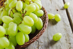 Grapes in a basket Stock Photography